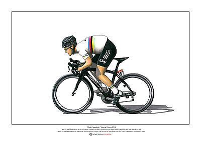Giro d/'Italia 2013 ART POSTER A3 size Mark Cavendish