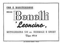 Manuale Uso E Manutenzione Benelli Leoncino 125 Cc -  - ebay.it