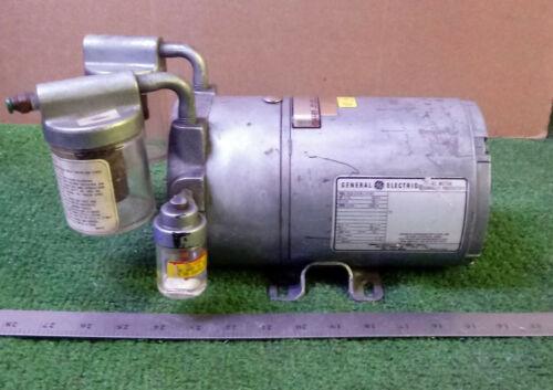 1 USED GAST VACUUM PUMP W/ GE 5KH33DN137BX AC MOTOR 1/6 HP, 1 PH, 1725 RPM