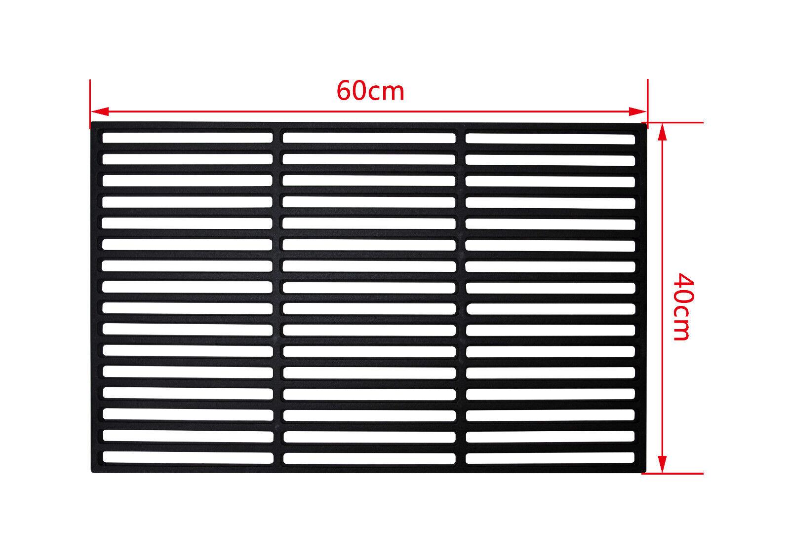Grillrost aus Gusseisen Größe 60x40 cm (emaliert), massive Profi Ausführung