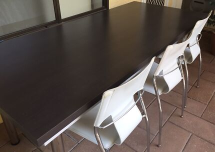 Dining Table 2000x900 Plus 8 White Harvey Norman Chairs For Sale