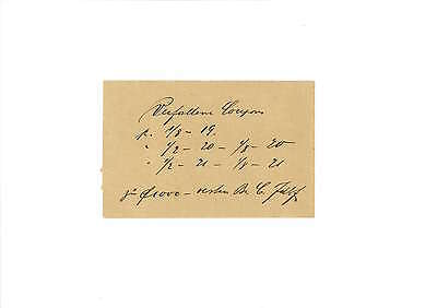 Umschlag für Coupons 1920er Jahre