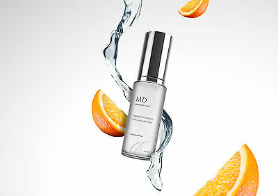 MD3 Vitamin C 25% Strong Face Serum L-Ascorbic Acid Anti Ageing Wrinkle Blemish
