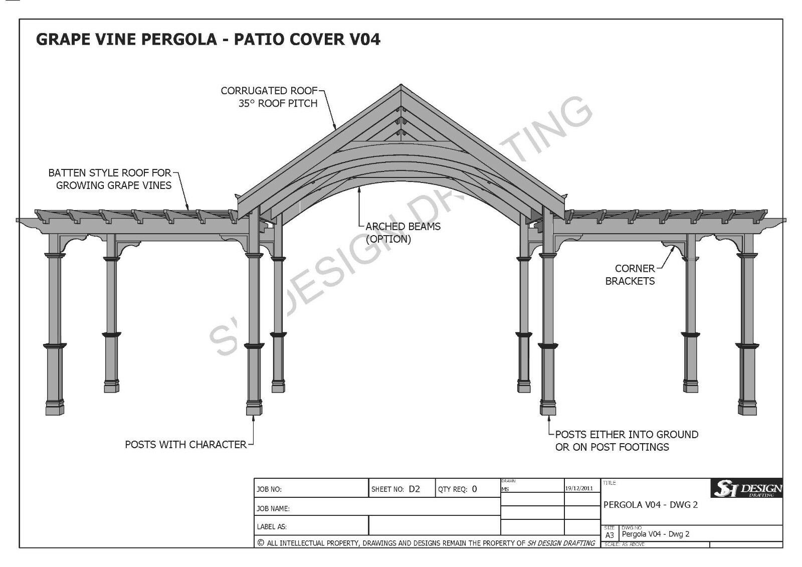 Patio Cover Building Plans