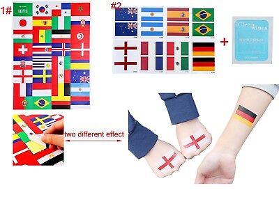 Tattoo Temporary Painting Face Flag Lable Stickers Support for Football Games (Face Paint For Football Games)