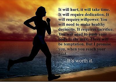 RUNNING INSPIRATIONAL / MOTIVATIONAL  POSTER / PRINT / PICTURE (25)