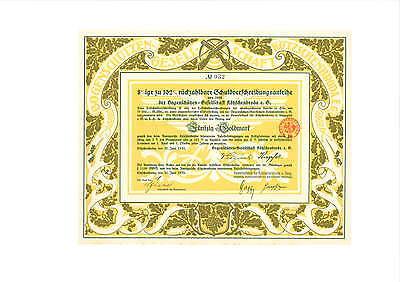 Rarität 8 % TSV Bogenschützen-Gesellschaft Kötzschenbroda e.G  50 Goldmark 1928