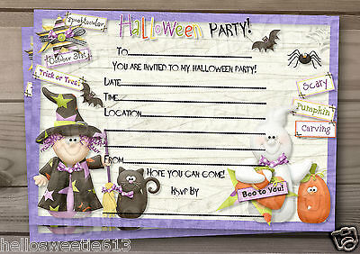 1-10 PERSONALISED HALLOWEEN HOOLIGANS KIDS PARTY INVITATIONS AND ENVELOPES](Halloween Kids Invitations)