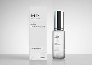 MD3 Strong 2% Retinol A Vitamin C Anti Wrinkle Blemish Acne Scar Treatment Serum
