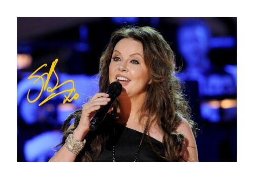 Sarah Brightman 1 A4 reproduction autograph poster with choice of frame