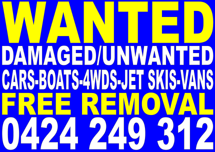 Wanted: DAMAGED/UNWANTED CARS REMOVED FOR FREE