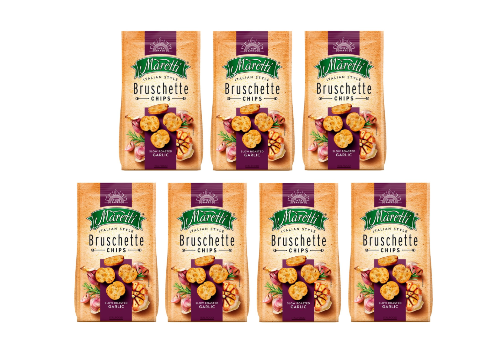 Maretti Bruschette Garlic flavour 70g pack of 7