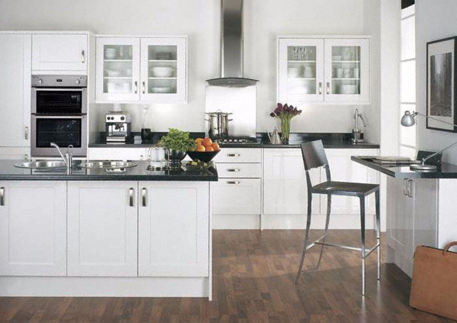 fp p gloss white shaker kitchen cabinet cupboard doors fit. Black Bedroom Furniture Sets. Home Design Ideas