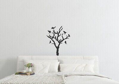 Halloween Tree Wall Art (Tree With Ravens Inspired Design Wall Art Halloween Scary Decal Vinyl)