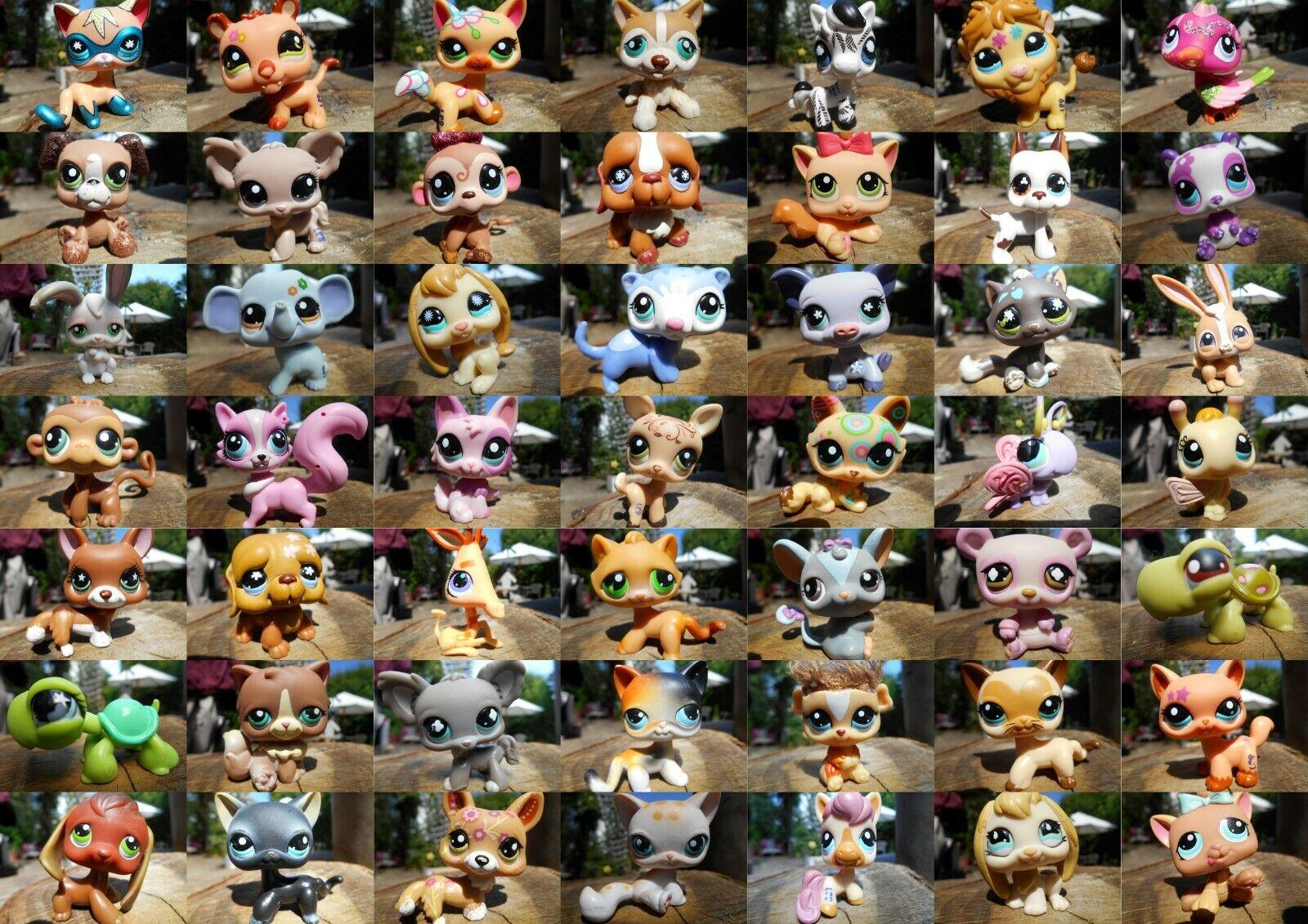 Lps littlest petshop pet shop chien chat européen colley teckel cat dog rare