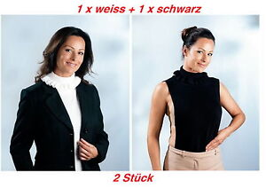 2 x Rollkragen-Einsatz Rollkrageneinsatz Krageneinsatz Volant  1weiss + 1schwarz