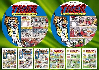 Tiger Weekly Comic 1950's On Two DVD Roms