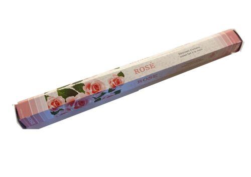 Green Tree Rose Incense Sticks (Hex Tube - 20 Sticks)