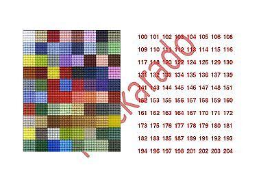 4 Mini-Pixelhobby Farbplatten / Farbquadrate - Auswahl aus 312 Farben -