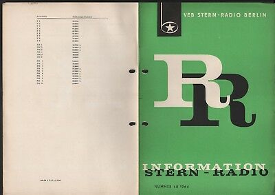 BERLIN, Prospekt 1964, VEB Stern-Radio Berlin Reiseempfänger R 110