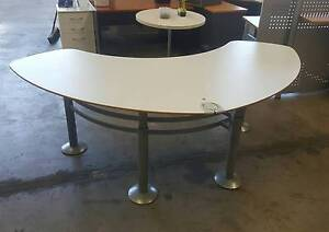 CURVED OFFICE DESK student study work office desk table reception Murarrie Brisbane South East Preview