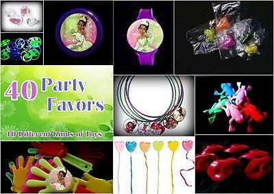 Tiana-  40 Party Favors Combo-Toys Birthday Prizes Pinata Pack Princess Frog - Frog Pinata
