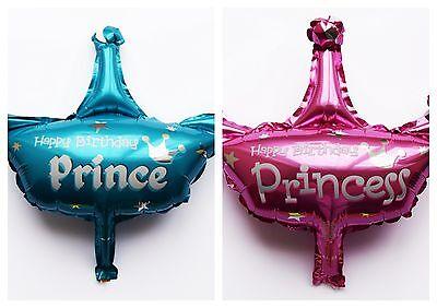 Baby Girl Boy Prinz Folienballon Geburt balloon Prinzessin crown prince Helium - Baby Boy Helium Balloons