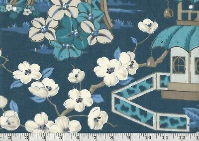 Asian Inspired Drapery Upholstery Fabric by P Kaufmann Summer Palace CL Zephyr