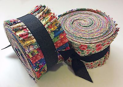 2.5 inch Year Bouquet Shabby chic light jelly roll cotton fabric quilt strips