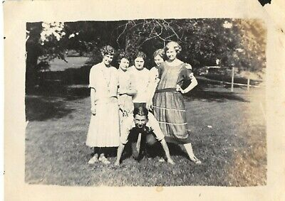 Cute Dress For Teenagers (Vintage 1920s Snapshot Photograph Teenagers Girls Boys Funny Cute Dress)