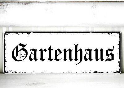 Schild Vintage ♥GARTENHAUS♥ Nostalgie Landhaus Shabby antik Rosalie weiss