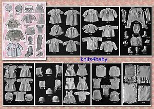100+ RARE Vintage 1920's ~ BABY PATTERNS ~ Knitting & Crochet.