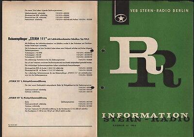 BERLIN, Prospekt 1965, VEB Stern-Radio Berlin Reiseempfänger stern 111