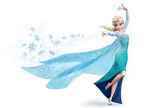 sticker autocollant poster a4 disney la reine des neiges snow queen elsa 3 ebay. Black Bedroom Furniture Sets. Home Design Ideas