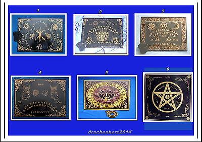 Witchboard, verschiedene Modelle, Esoterik, Hexen, Hexenbrett, neu, Holz, Magie