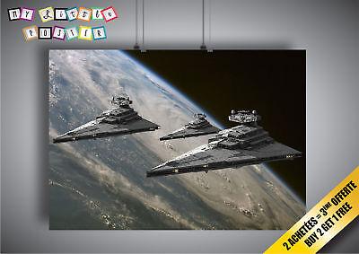 Star Wars Darth Vader Schiff (Plakat star wars Schiff destroeyr darth vader Wand)