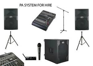 PREMIUM PA SOUND SYSTEM FOR HIRE