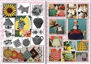 90+ Vintage TEA COZY &  POTHOLDER ~ Knitting & Crochet Patterns + more