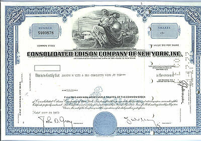 Consolidated Edison Company of New York Inc. - Aktie  29.9.1969  3 Shares
