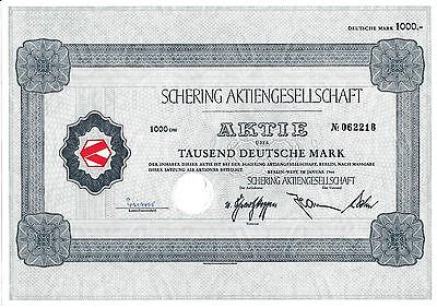 Schering AG Berlin - West 1966 historische Aktie Bayer Pharma AG Bergkamen