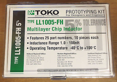 Toko Ll1005-fh Multilayer Chip Inductor Design Engineers Prototype Kit