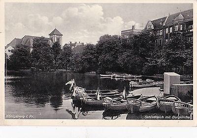 Königsberg. Schloßteich mit Burgkirche. 1934.