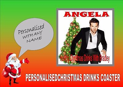 Bradley Cooper Personalised Drinks Coaster Perfect Secret Santa Gift Xmas Gift ()