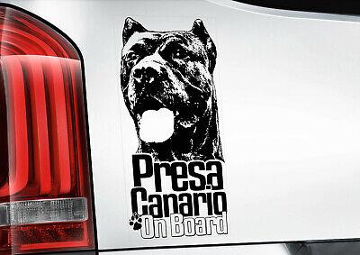 Presa Canario Sticker, Canary Mastiff Dog Car Stickers Window Decal - V02B...