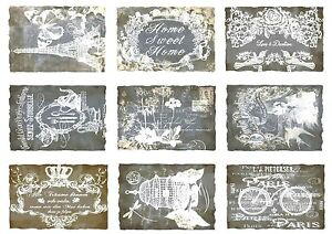 Shabby--Möbeltattoo--Dekofolie--Aufkleber--Transparent--A4--Nostalgie--.....1687