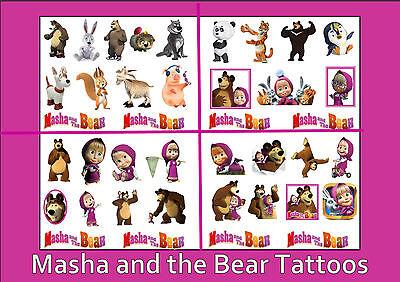 MASHA and the BEAR friends TATTOOS  temporary tattoo  WATERPROOF LAST 1WEEK + (Friends Tattoos)