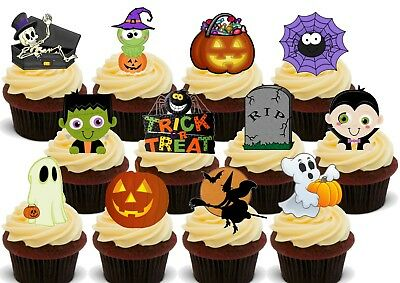 Halloween Cute Kids Party Pack Mix Stand Up Premium Edible Card Cake Topper - Mix Halloween Kids