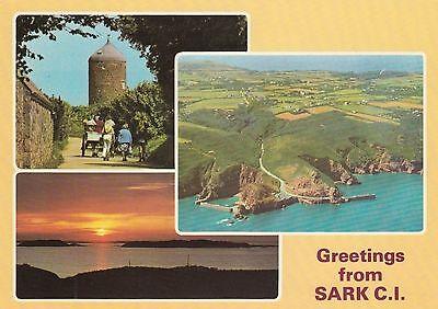 Postcard - Sark - Greetings from Sark - 3 views