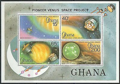 Ghana - Pioneer-Venus-Programm Block 79 postfrisch 1979 Mi.Nr. 791-794 B II