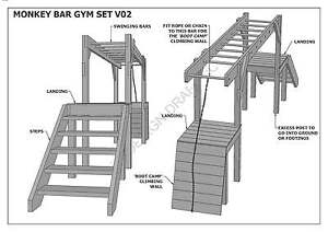 PLAY GYM / MONKEY BARS / GYM SET - BUILD WITH YOUR CHILDREN - Building Plans V1